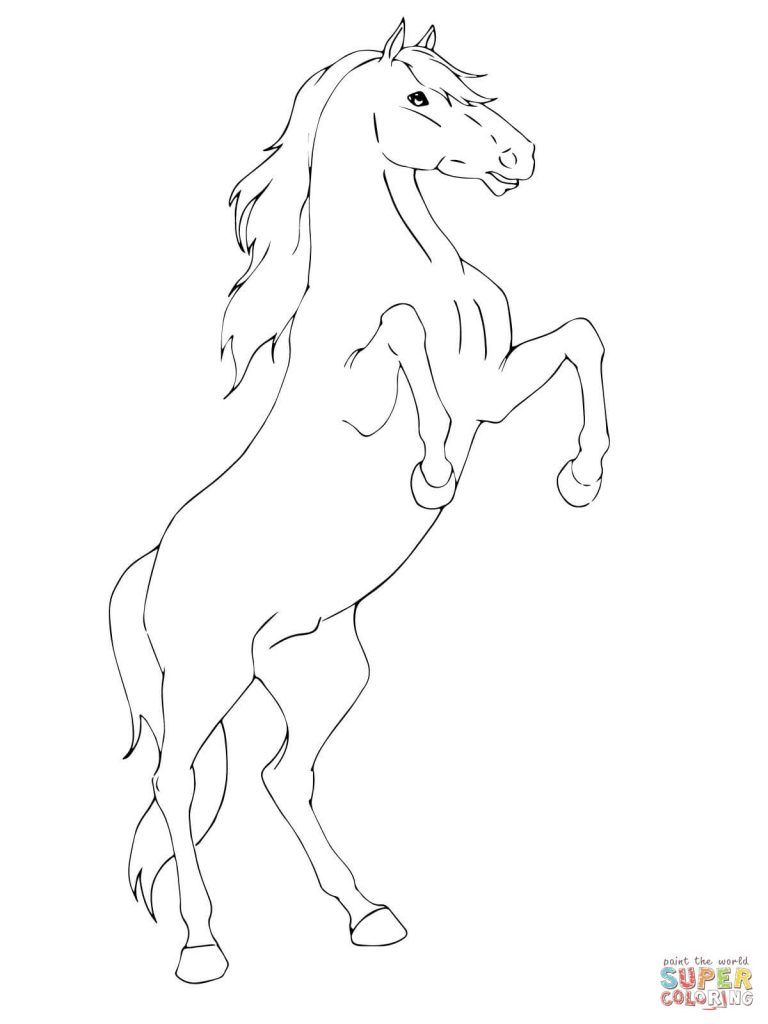 Rearing Horse Coloring Pages Free Download Horse Coloring Pages Horse Coloring Animal Coloring Pages [ 1024 x 768 Pixel ]