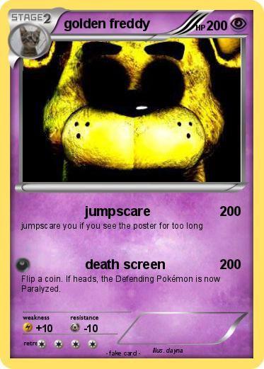 Pokemon golden freddy