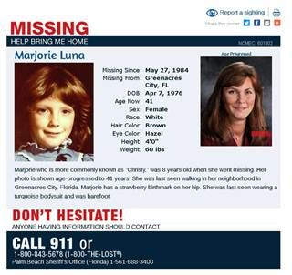 Missing Persons Posters Missing Florida Girl 'tells' Her Story On Sheriff's Twitter Feed 33 .