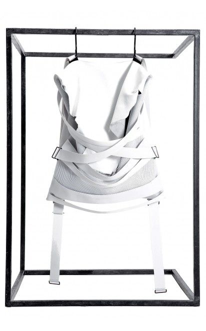 Filip Roth white strap backpack - unconventional