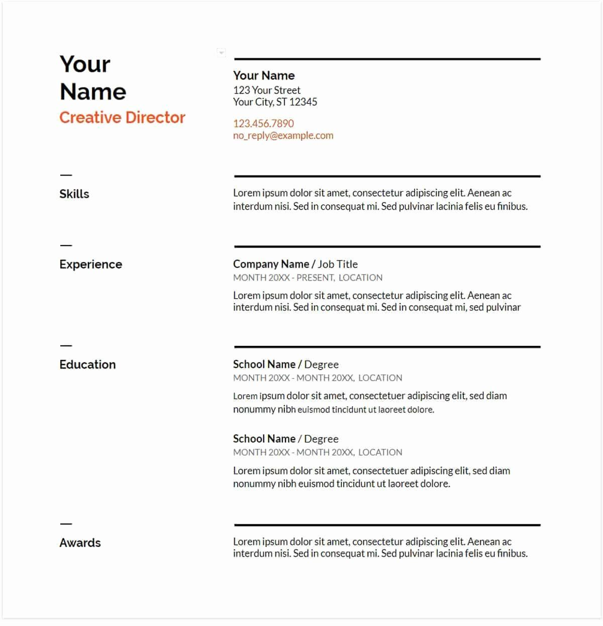 40 Skills Based Resume Template Free in 2020 (With images