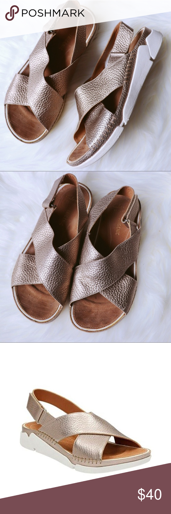 1c627bae4513 Clarks Artisan sandal- Tri Alexia Great used condition Clark s Artisan  leather cross strap sandal in