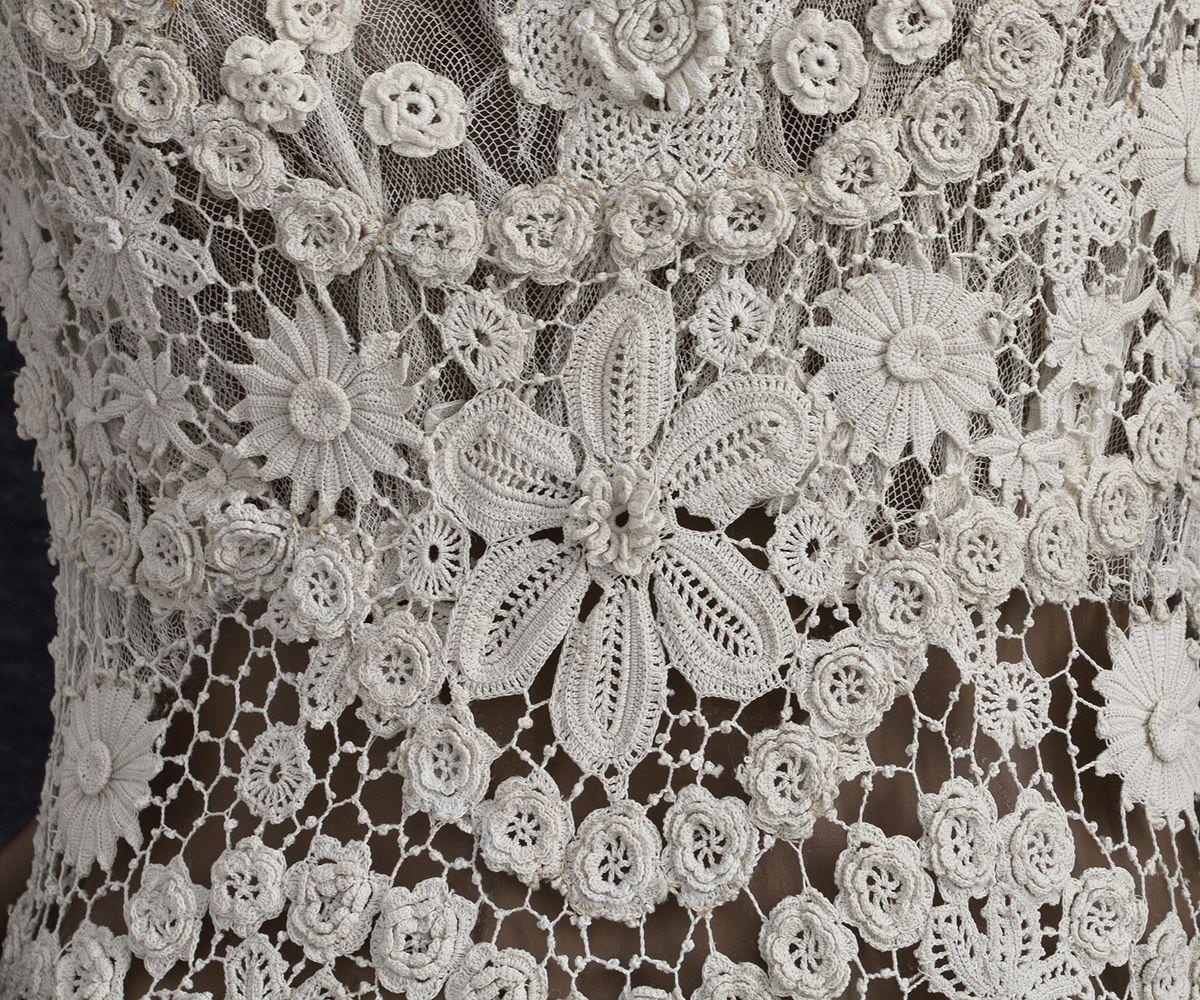 Edwardian Clothing at Vintage Textile: back detail Irish crochet ...
