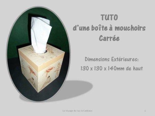 Cartonnage tuto de la bo te mouchoirs carr e tutos - Boite a mouchoirs maison ...