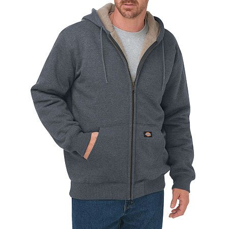 Dickies Men's Sherpa-Lined Fleece Hooded Jacket - Big ...