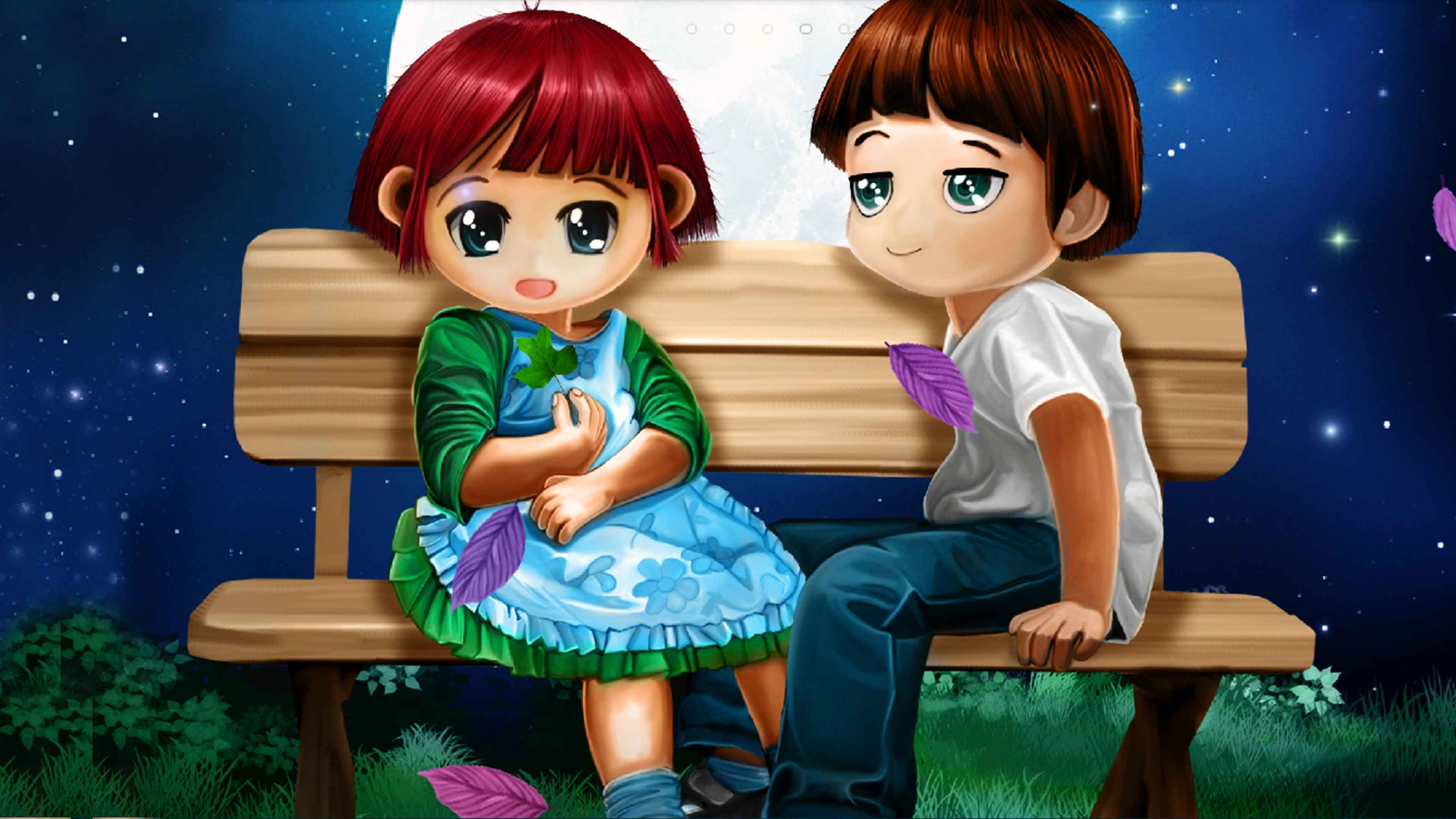 Wallpaper download cute lovers - 3d Love Couple Cartoon Wallpapers Download 3d Wallpaper Hd