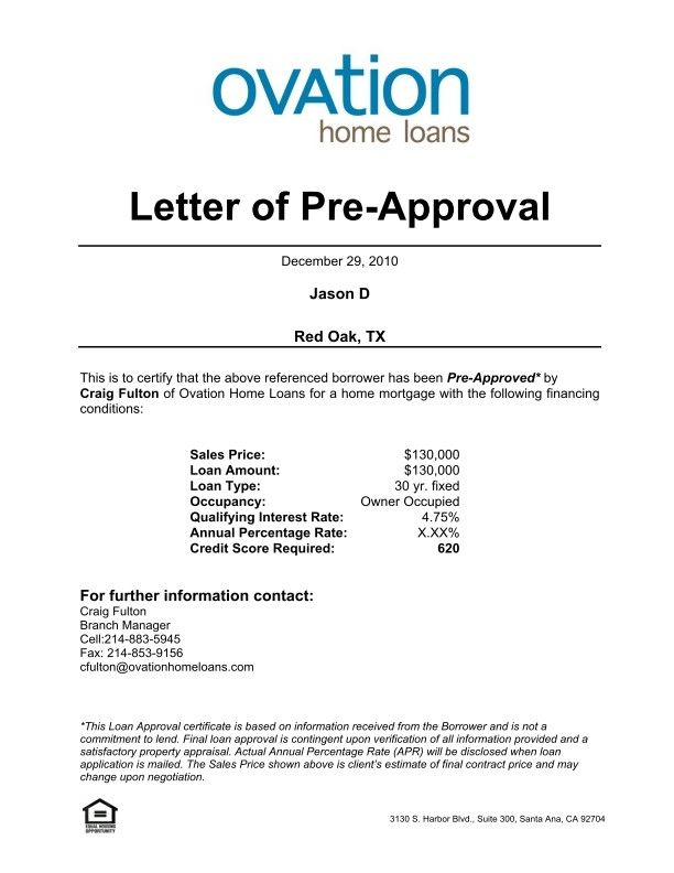 Pre Approval Letter Sample Pre Approval Letter Format Cialisnets In 2020 Lettering Preapproved Mortgage Letter Example