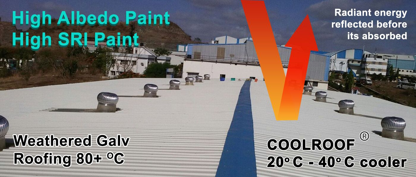 Coolroof Paint Has A High Sri Value Of 122 Which Can Be Applied On All Types Of Roofs Cool Roof Reflection Painting Roof Paint