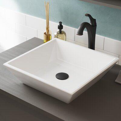 Kraus Elavo Square Vessel Bathroom Sink With Faucet In 2020 Sink Faucet Bathroom Sinks For Sale