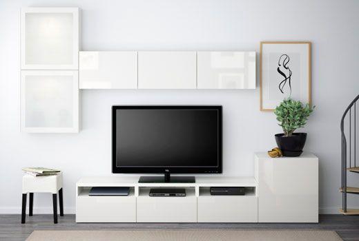 Besta Aufbewahrung Grundelemente Wohnzimmer Tv Wand Ideen