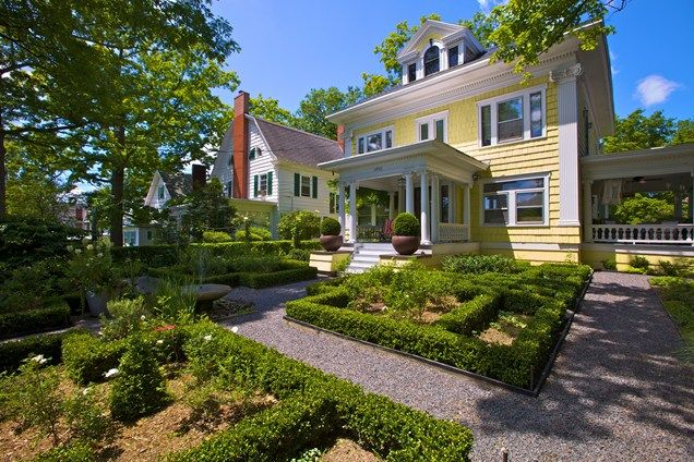 Landscaping Pavers Syracuse Ny : Formal front yard hedges garden design a j