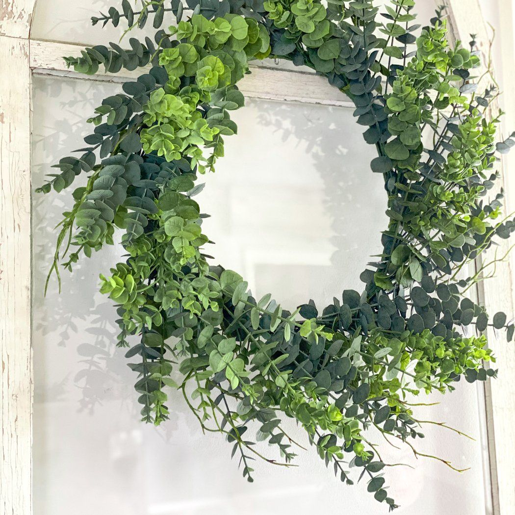 Photo of Spring green eucalyptus wreath