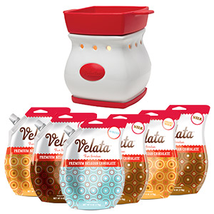 Velata 6 pack of premium belgian chocolate comes with a FREE fondue warmer of your choice!! Sale happening now!