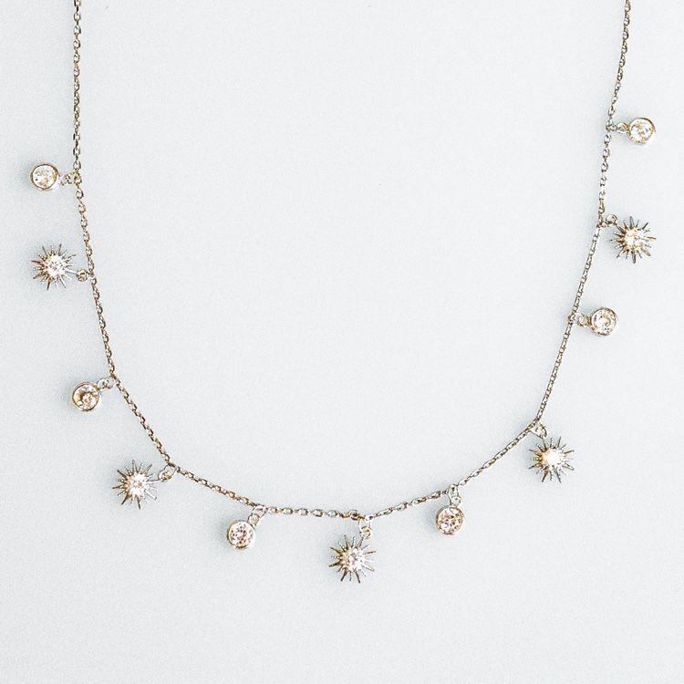 925 Sterling Silver //18K Gold Vermeil Arrow Necklace Cubic Zirconia CZ Crystals