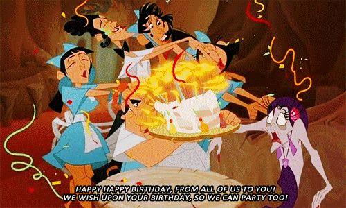 Yzma Birthday With Images Birthday Cartoon Birthday Animated