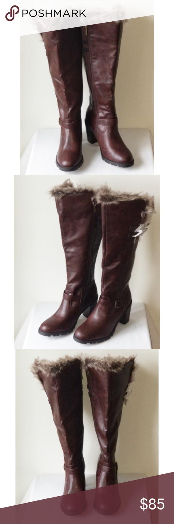 b43be454bab Ashley Stewart Chunky Fur Lined Tall Boot size 12W Ashley Stewart ...