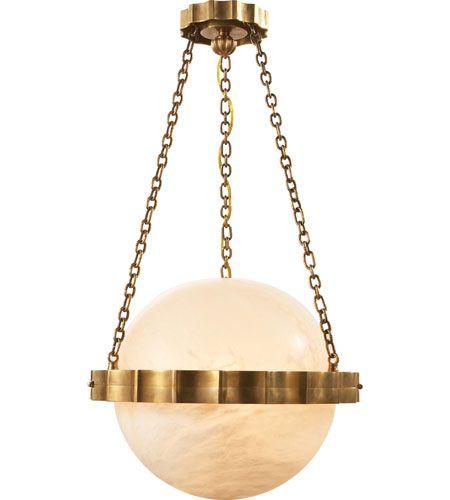 Medium Fluted Band Globe Pendant
