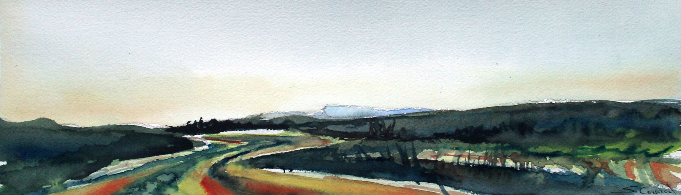 Original watercolor landscape of Empordà (Catalonia, Costa Brava) by Silvia Cairol