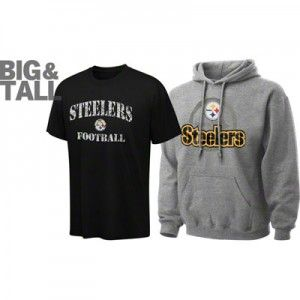 hot sale online 80961 793ea Pittsburgh Steelers Big, Tall, Plus T-Shirts, Jackets ...