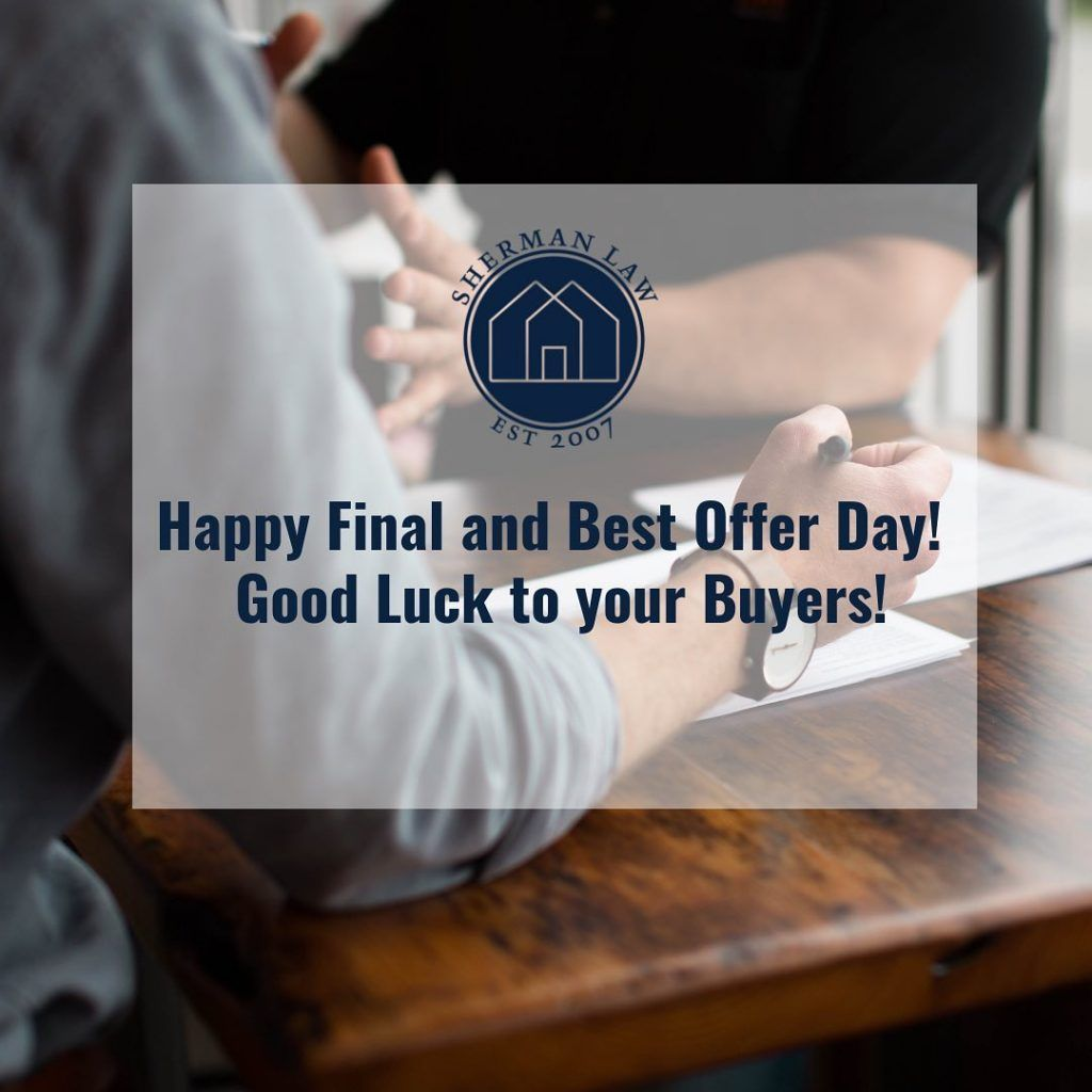 Happy monday also known as final and best offer day