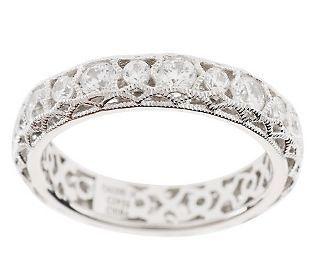 Tacori IV Diamonique Epiphany Crescent Lace Band Ring // want!