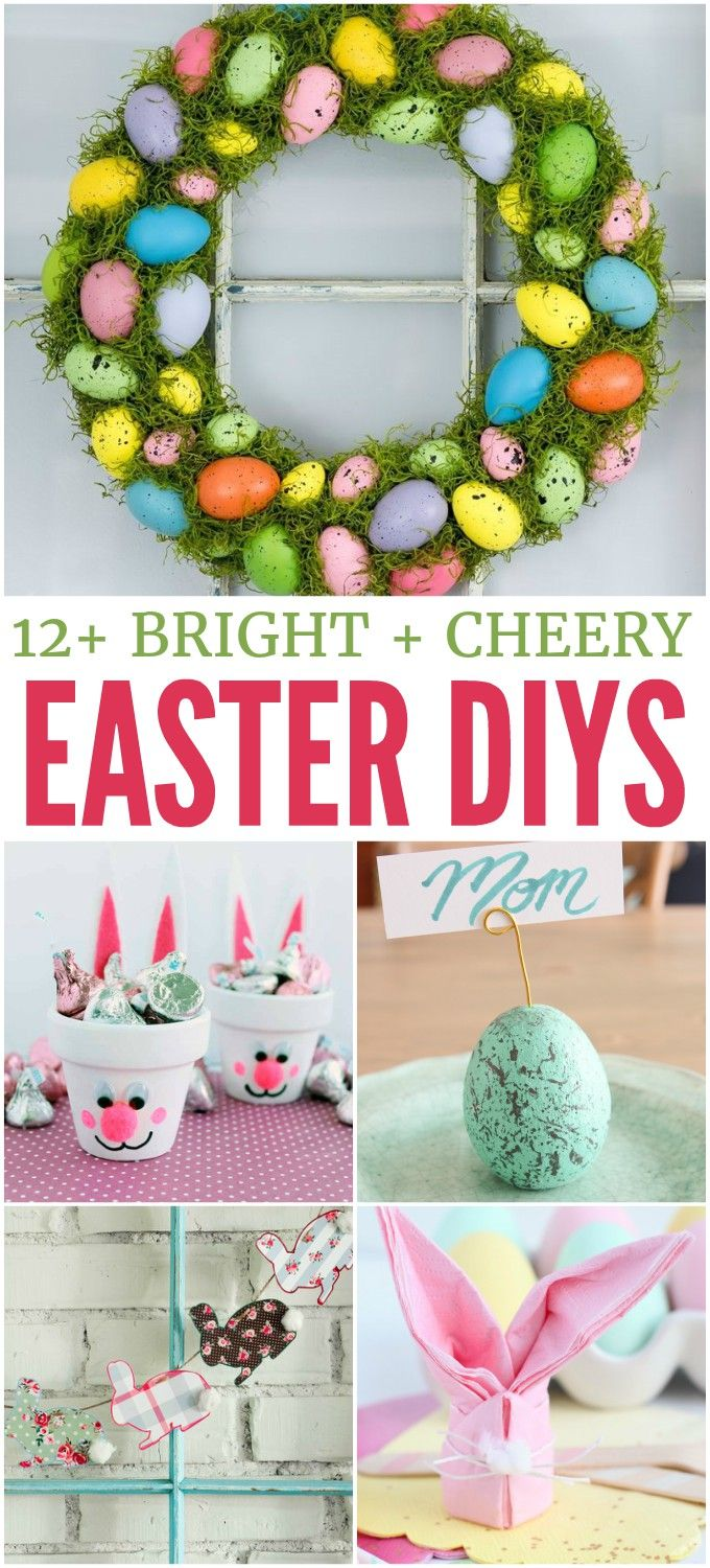 Spruce up your home for spring with these bright and cheery Easter DIYs!