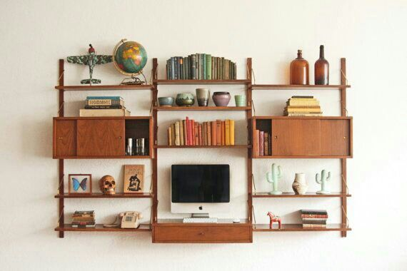 Mid Century Modular Shelves Othertimesvintage Mid Century Modern Bookcase Mid Century Wall Unit Modern Wall Units