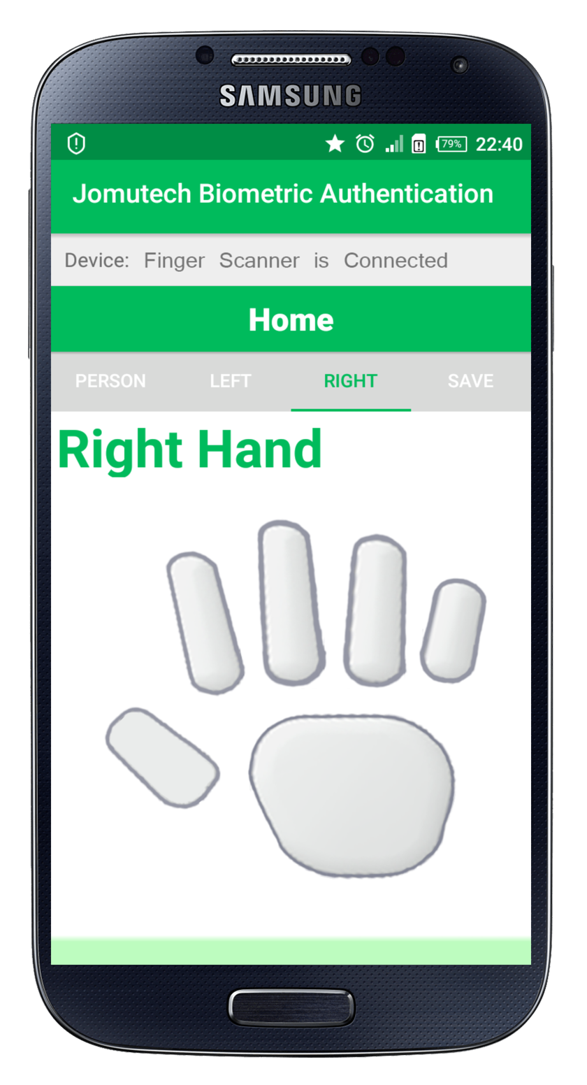 Android Biometric Fingerprint Authentication Right Hand