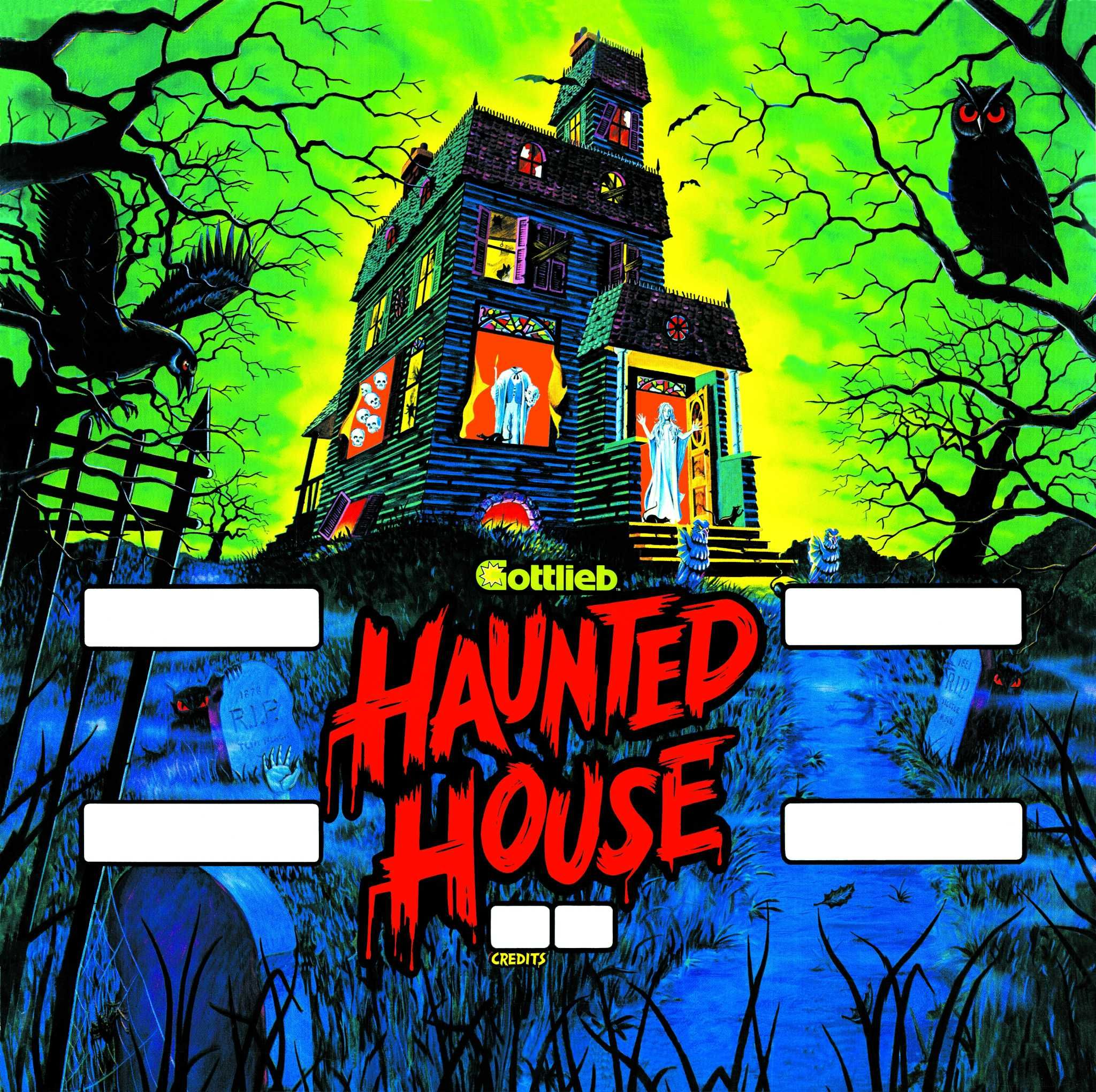 Haunted House Browser Game: Haunted House Pinball Backglass