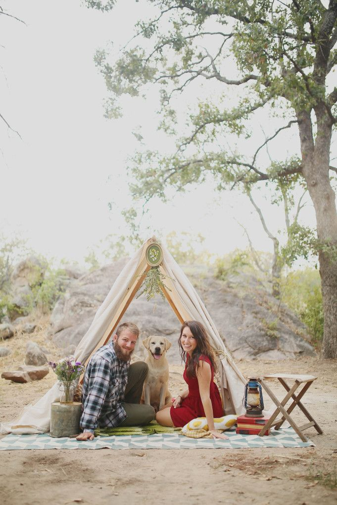 DIY camping engagement shoot by Tamra Horner Photography