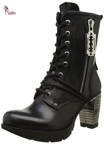 New Rock M Tr028 S1, Bottes Motardes Femmes, (Black), 39 EU