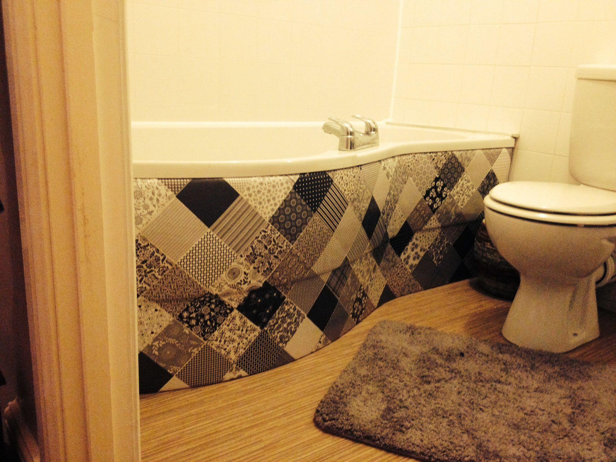 Decoupage bath panel
