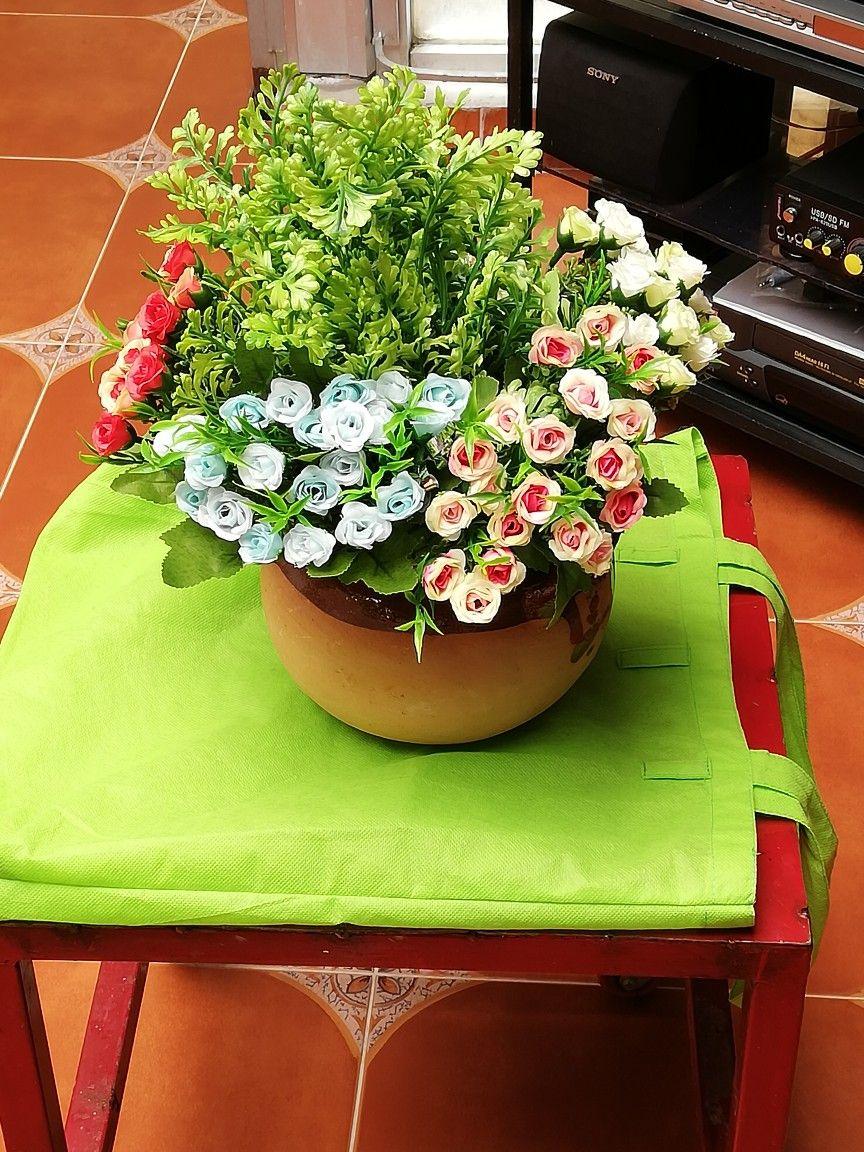 Jarrón con flores (centro de mesa mexicano) Flower