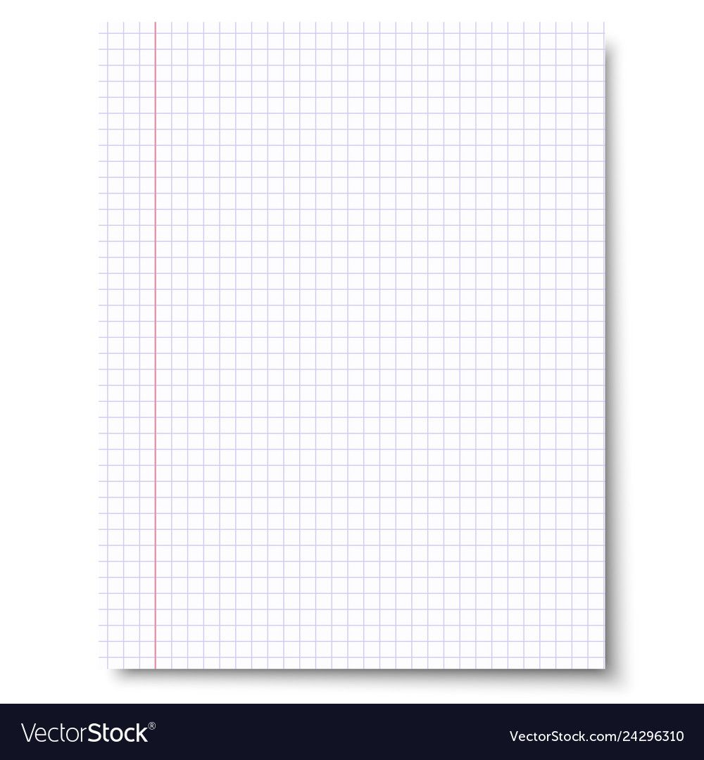 Notebook Checkered Sheet Of Paper Royalty Free Vector Image Aff Sheet Paper Notebook Checkered Ad Vector Free Wall Clock Vector Sheet Of Paper