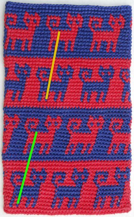 Tapestry Crochet Experiment - Yarn over vs. Yarn under | Tunisian ...