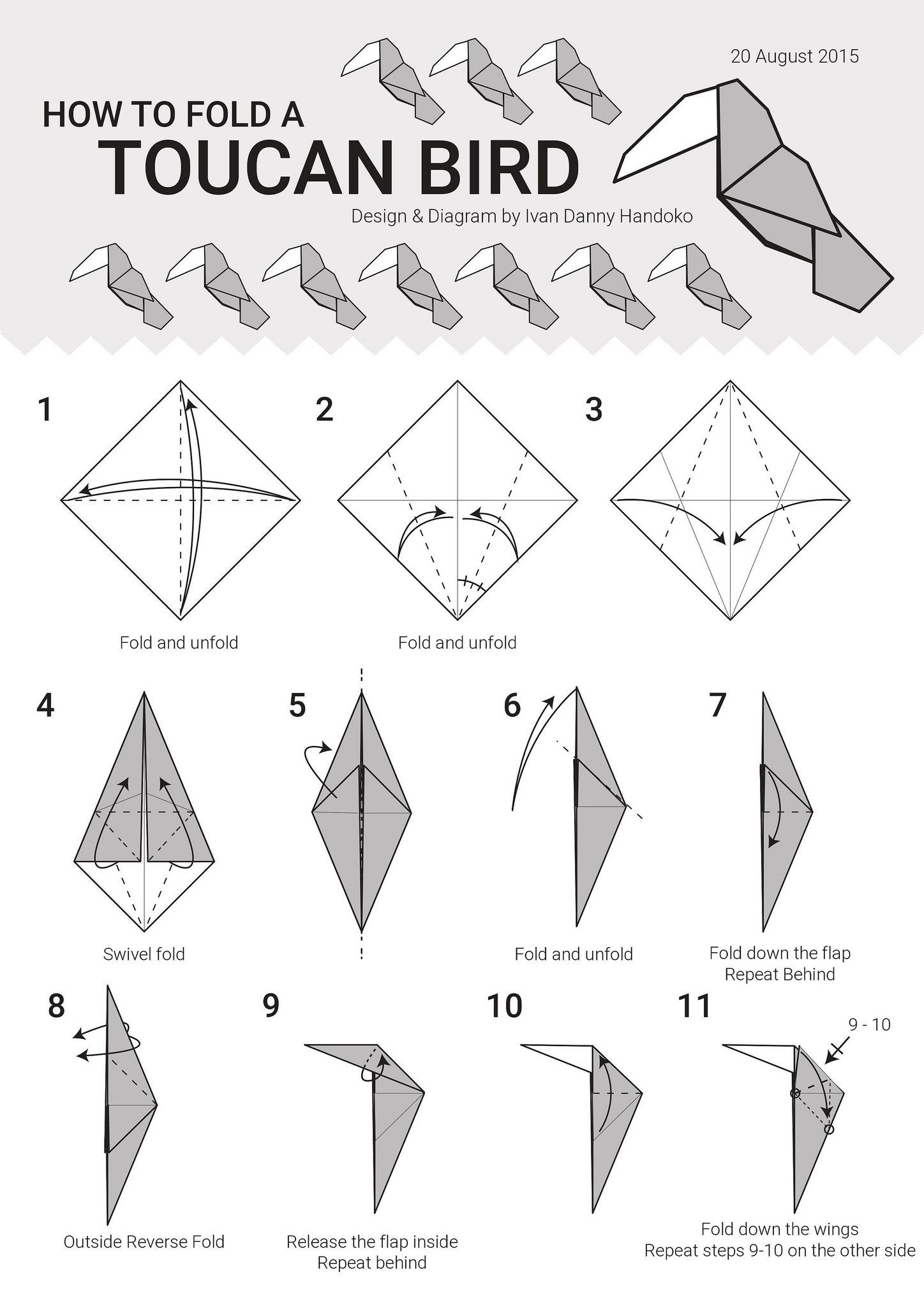 Toucan Diagram 1 Origami Pinterest Diagrams Rose Diagram1 By Ivan Danny