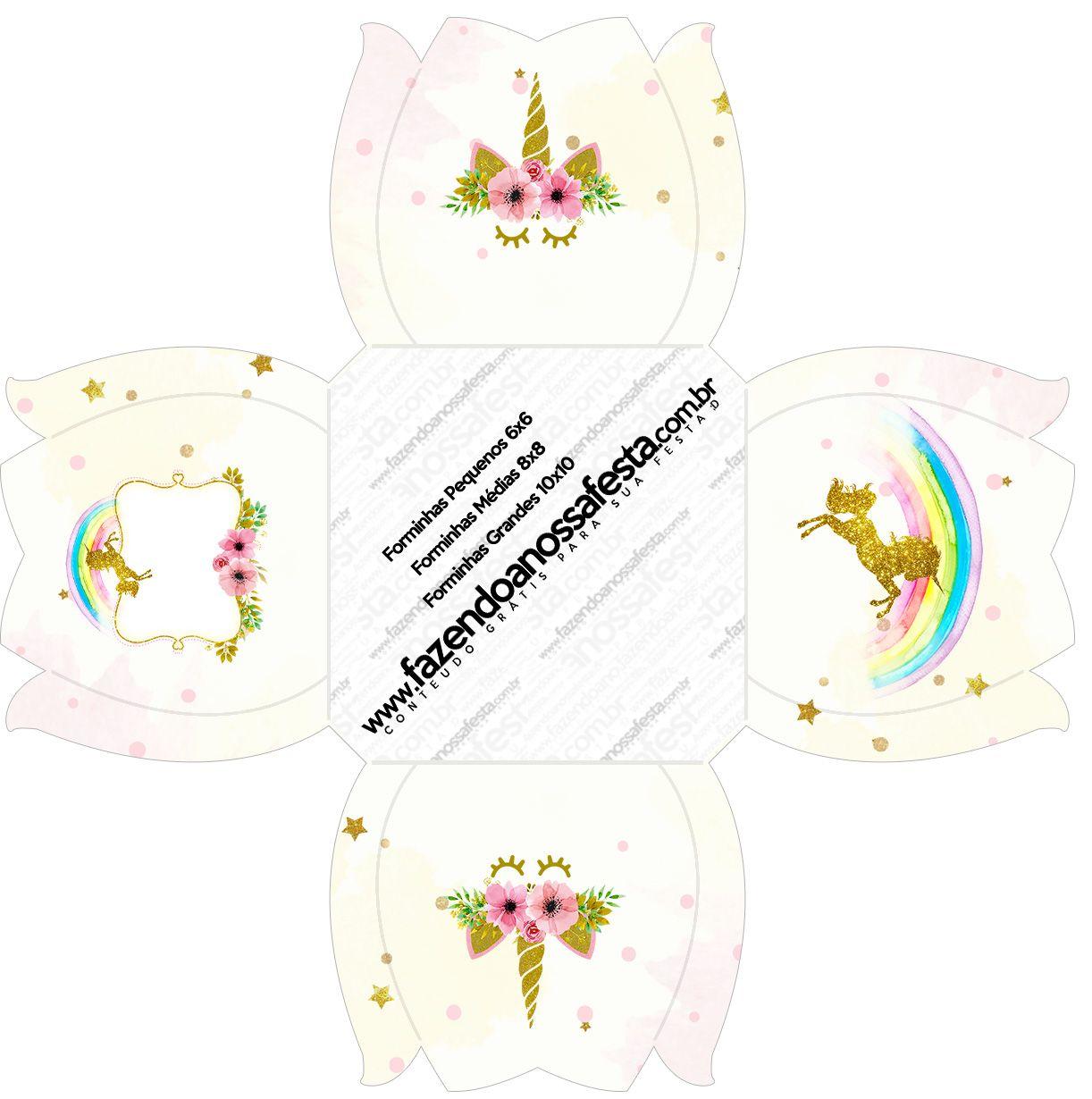 Unicornio Kit Festa Gratis Para Imprimir 100 Moldes Doces De