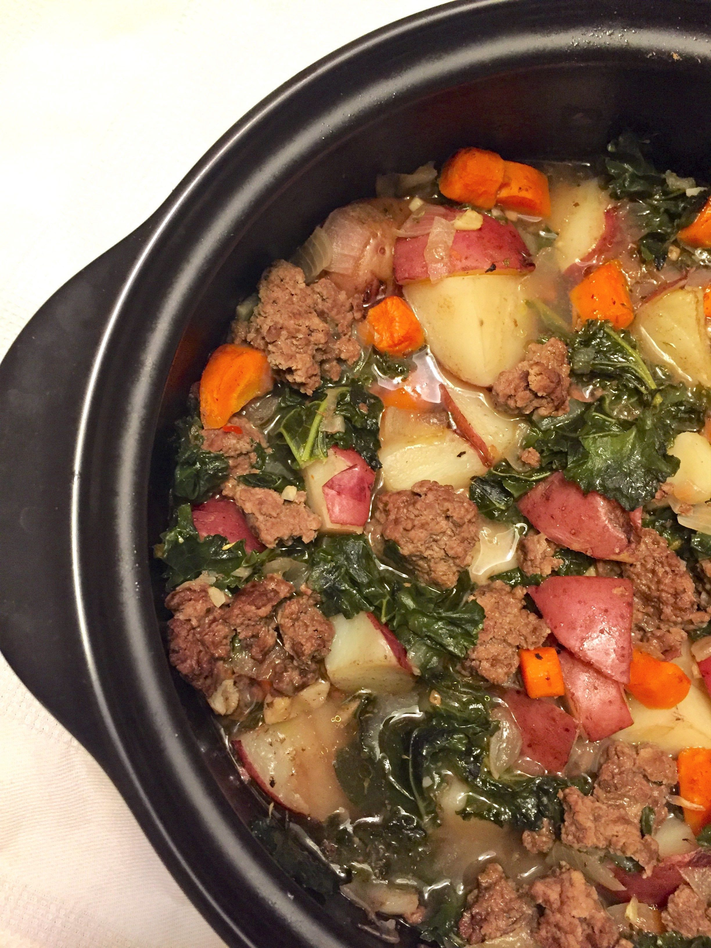 Sauteed Ground Beef Kale Soup With Potatoes Recipes Pinterest
