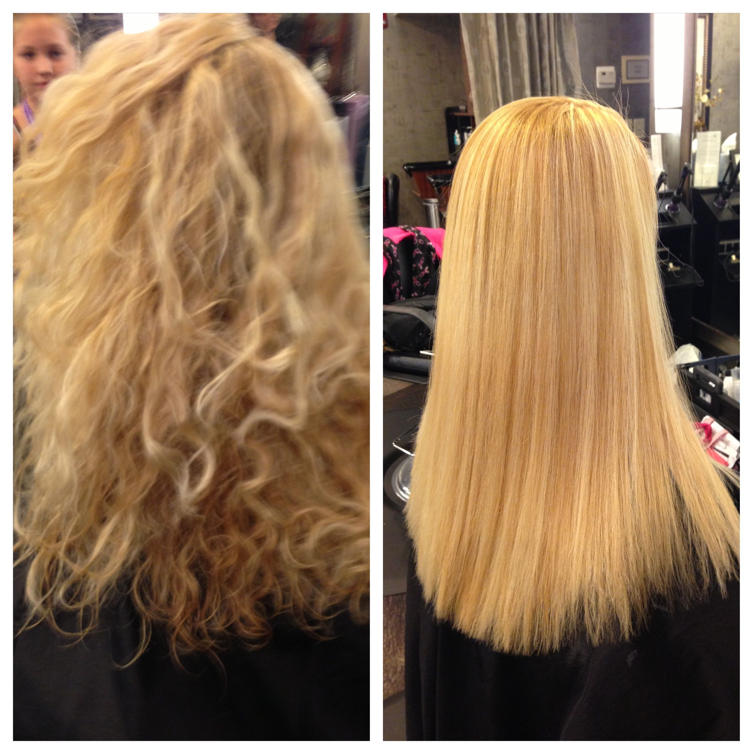 Before/after color, new Peter Coppola Keratin Concept