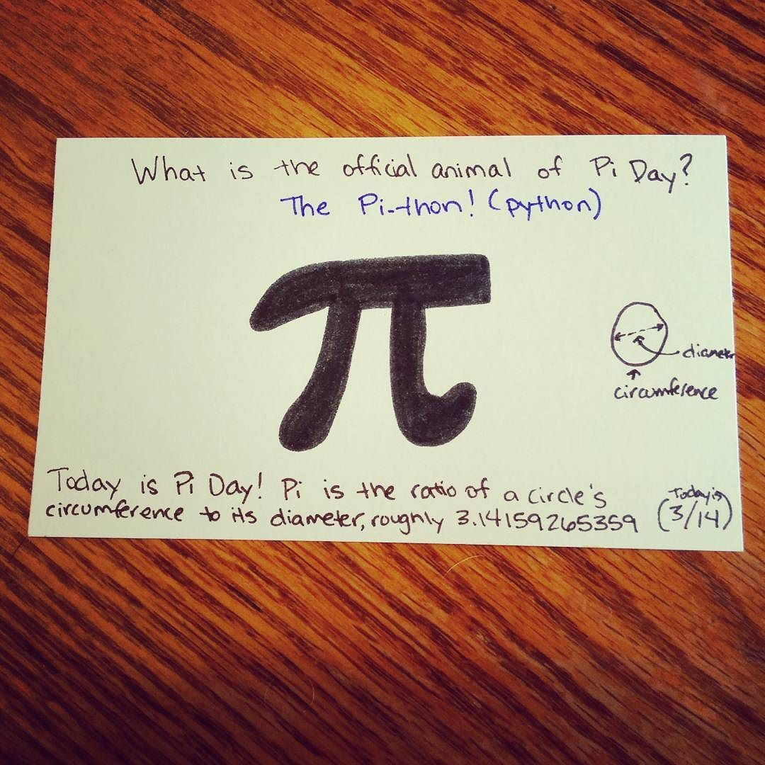 Pi Day Quotes Sayings: What's The Official Animal Of Pi Day? The Pi-thon! #PiDay