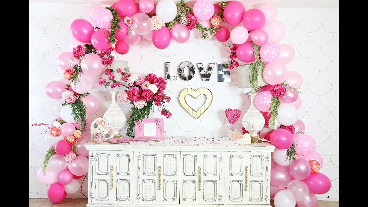 Awesome Wall Decoration For Engagement At Home Wedding