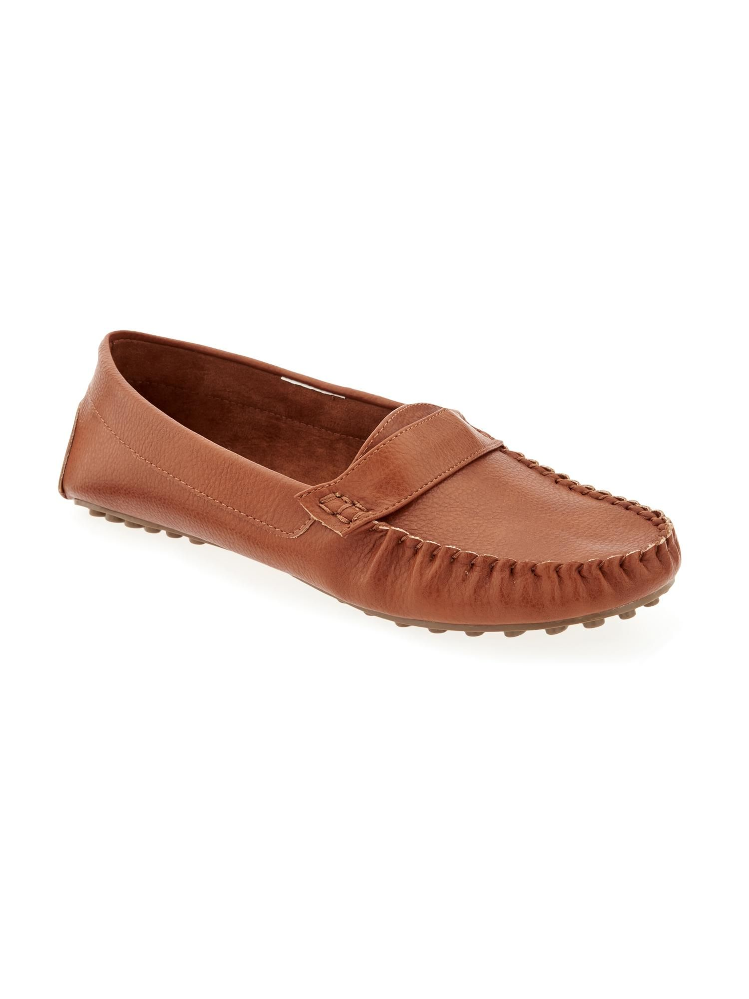 83ee342bea8 Faux-Leather Driving Loafers for Women