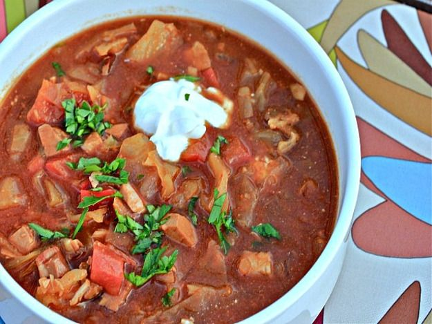 Crockpot Goulash Soup:Spicy Pork and Cabbage Slow Cooker Goulash from Serious Eats