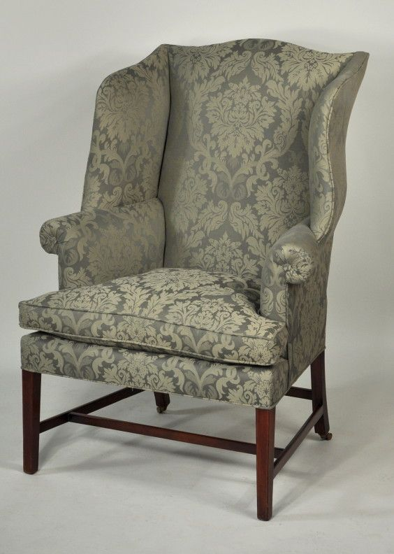 Hepplewhite Inlaid Mahogany Wing Chair | Interior design i ...