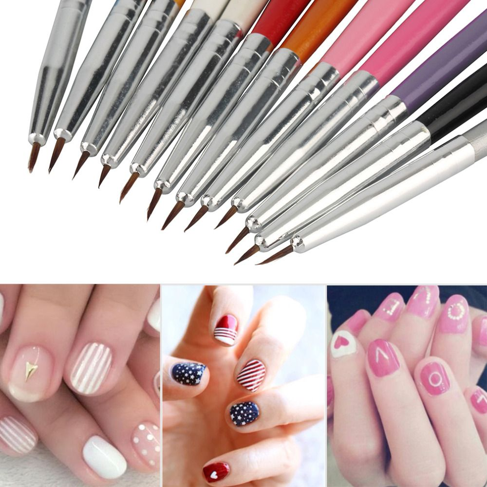 12 Unids Nail Art Dise O Pintura Herramienta Pluma Cepillo Del  ~ Herramientas Pintor Profesional