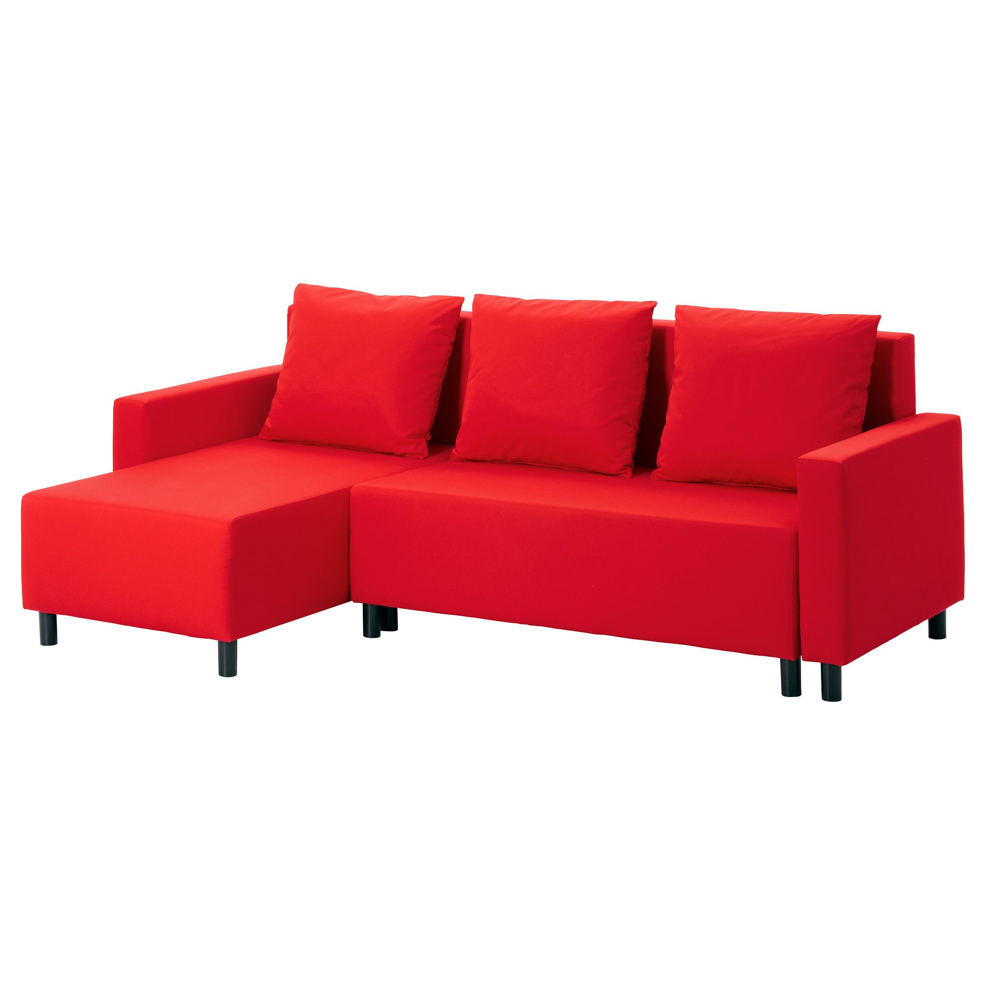 Ikea Sofas Chaise Longue Lugnvik Sofa Bed With Chaise Lounge - Granån Red - Ikea