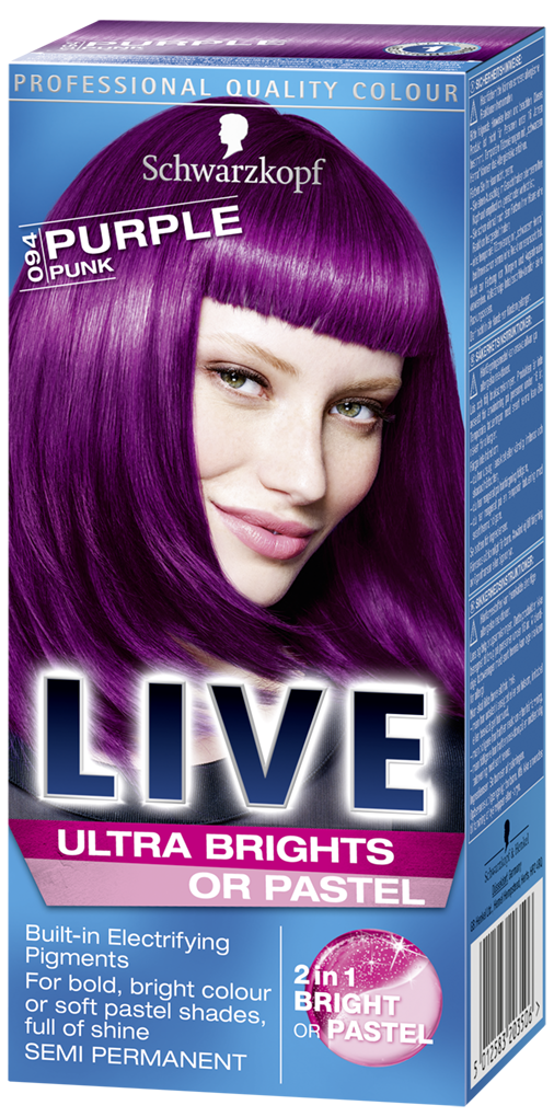Live Ultra Brights Or Pastel Purple Punk Purple Hair Dye Live