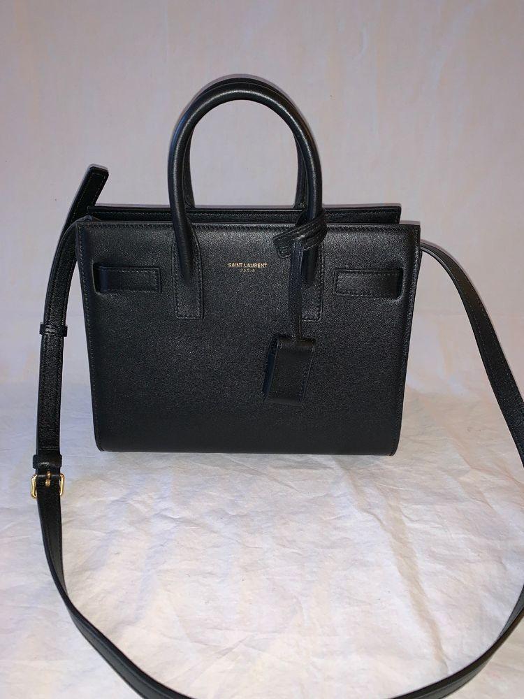 3381afb5d87 Saint Laurent Nano Black Leather Sac De Jour Handbag   Designer ...