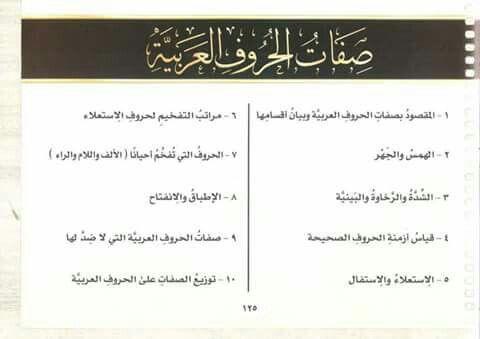 صفات الحروف العربية Iyo Streaming Quran