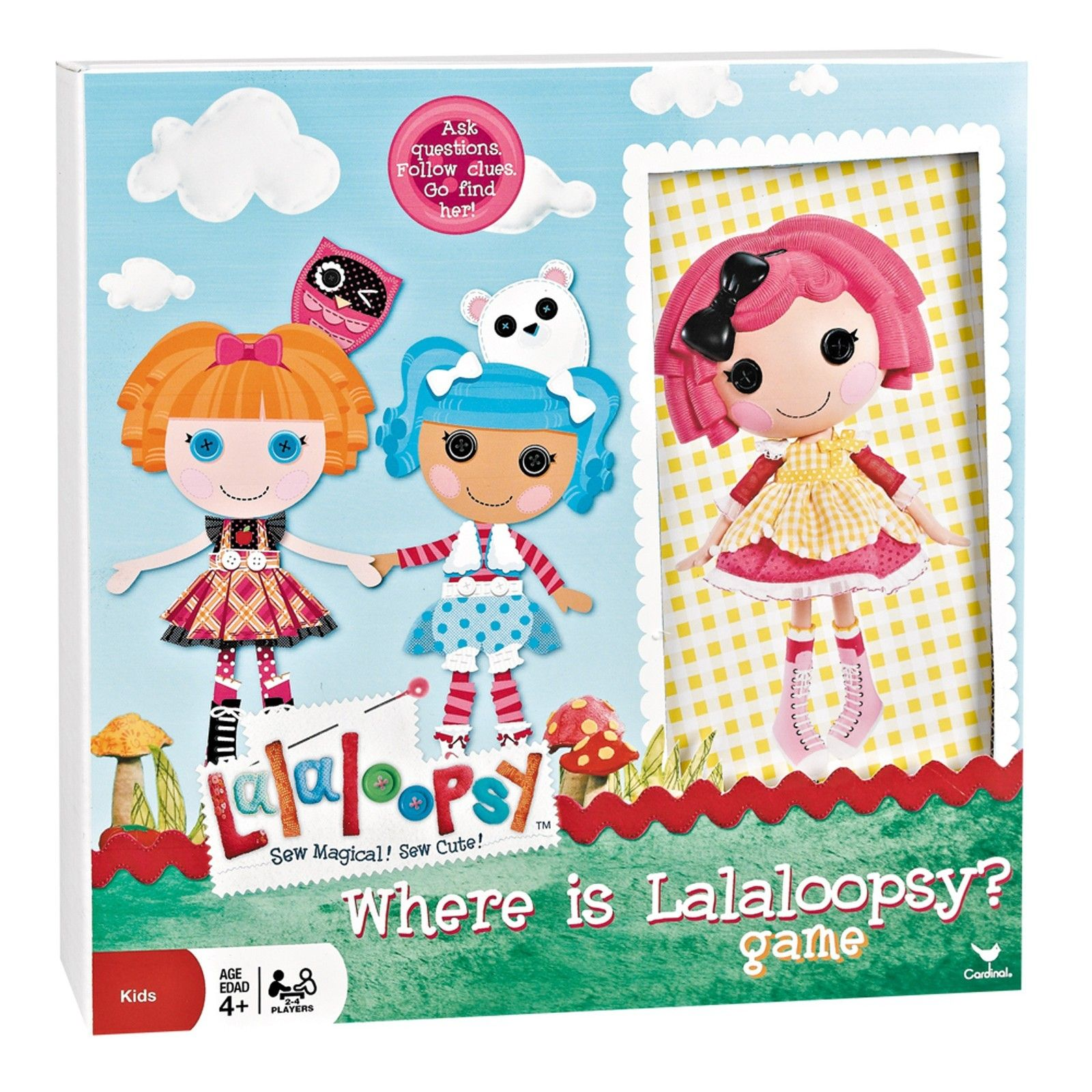 Cardinal Industries Where Is Lalaloopsy Board Game for $12 98